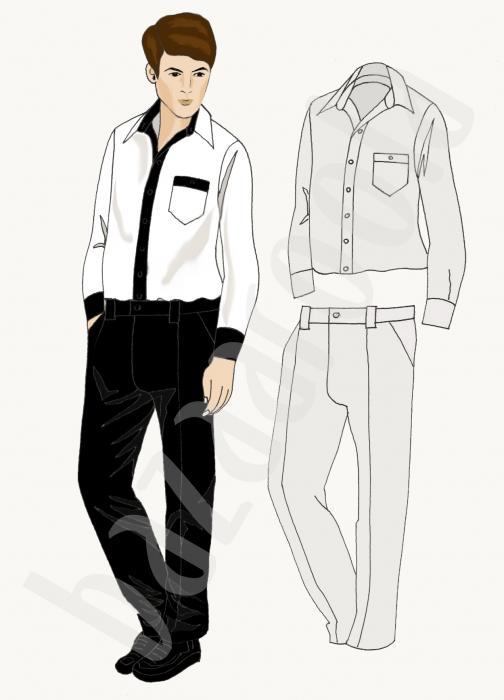 Kurumsal erkek kıyafeti tasarımı